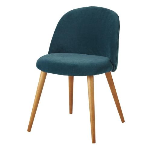 sedia legno blu