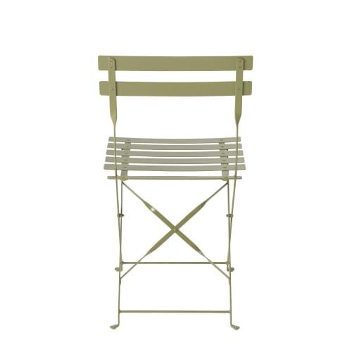 Sedie da giardino in metallo verde tiglio (x2) Guinguette ...