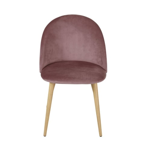 Sedie professionali vintage in velluto rosa e metallo ...