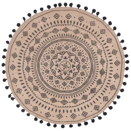 Set De Table Rond En Jute Imprime Mandala Solvenna Maisons Du Monde