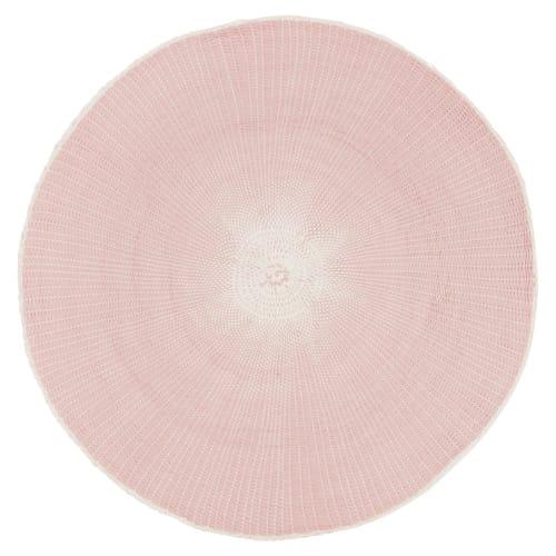 Set De Table Rond En Papier Rose Maisons Du Monde