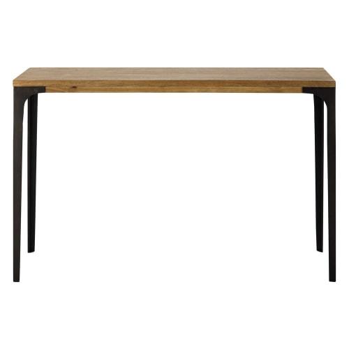 Hoge Side Table.Sidetable Metaal En Massief Mangohout Breedte 120 Cm Maisons Du Monde