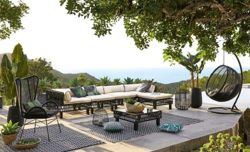 Sillon Colgante De Jardin De Resina Trenzada Calypso Maisons Du Monde