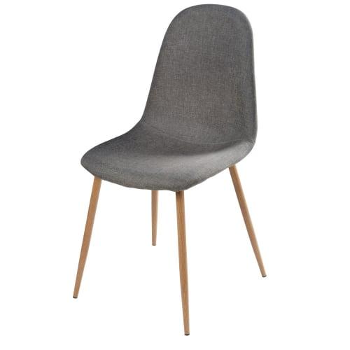 Skandinavischer Stuhl Grau