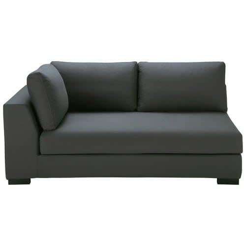 Admirable Slate Grey Cotton Modular Sofa Bed Left Armrest Machost Co Dining Chair Design Ideas Machostcouk