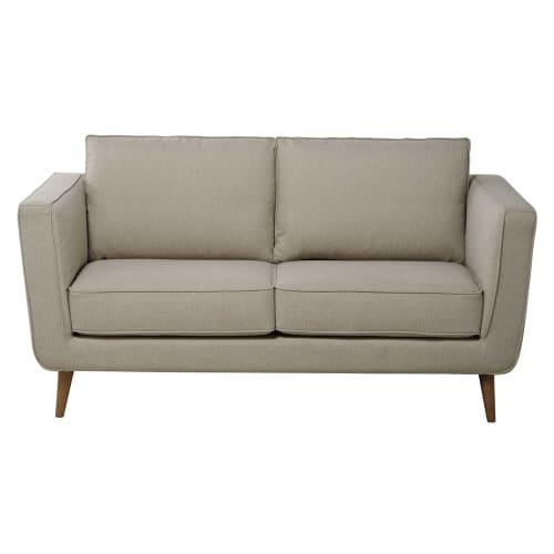 Awe Inspiring Sofa 2 3 Sitzig Aus Gewebe Beige Meliert Forskolin Free Trial Chair Design Images Forskolin Free Trialorg