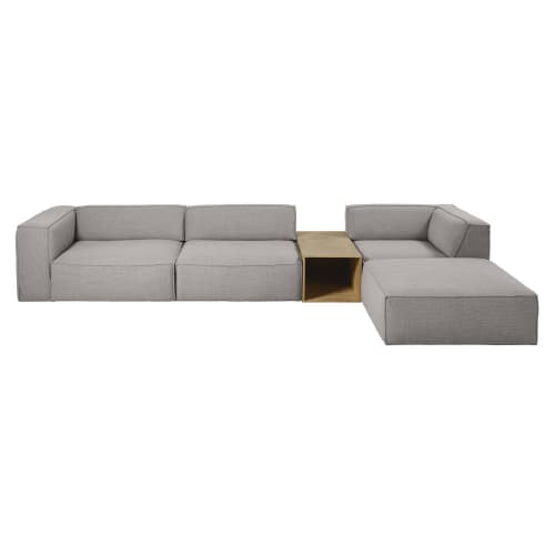Sofa-Armlehne mit Ecke links, grau Fakir   Maisons du Monde