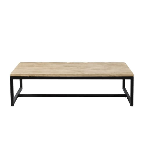 Solid Fir and Metal Industrial Coffee Table  Maisons du Monde
