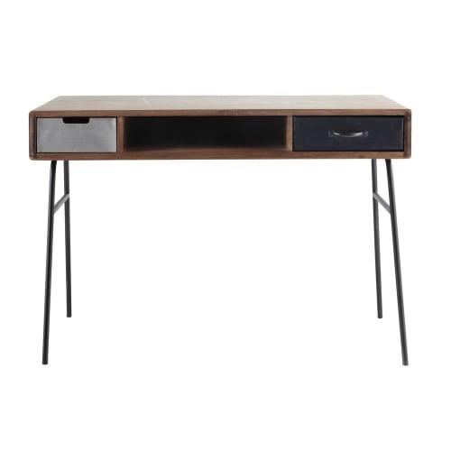 Solid Mango Wood and Metal Vintage Desk  Maisons du Monde