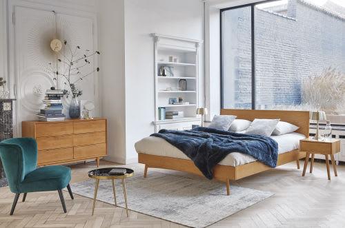 Solid Oak Vintage 160 X 200 Double Bed