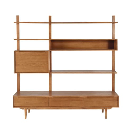 new concept 80a0a 84f54 Solid Oak Vintage TV Shelf Unit