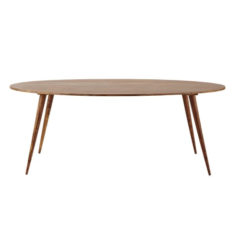 Solid Sheesham Wood Oval Dining Table L200 Maisons Du Monde