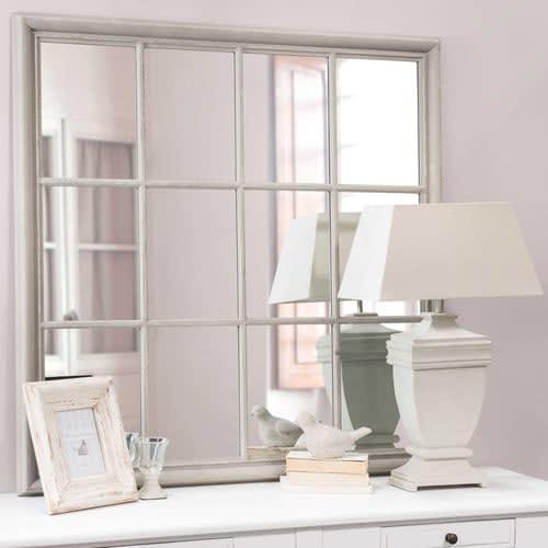 Specchi Per Bagno Maison Du Monde.Specchio Grigio In Paulonia 120x120