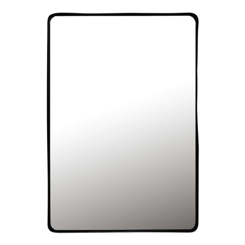 Spiegel Zwarte Lijst.Spiegel Met Metalen Zwarte Lijst 75x110