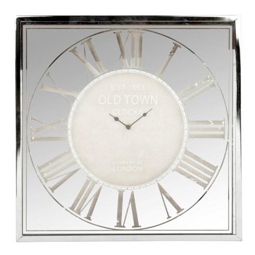 Square Silver Clock 49x49 Maisons Du Monde