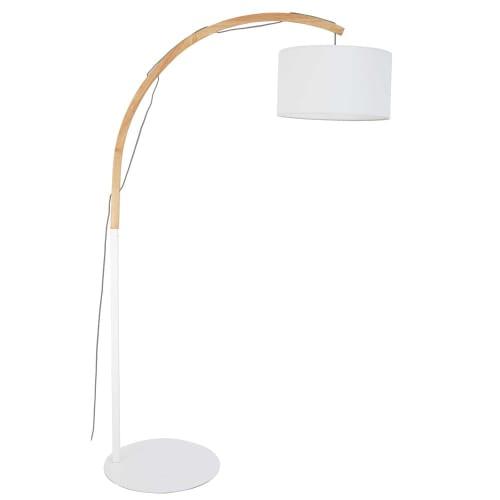 Witte Staande Lamp.Staande Lamp Met Witte Lampenkap H190 Maisons Du Monde