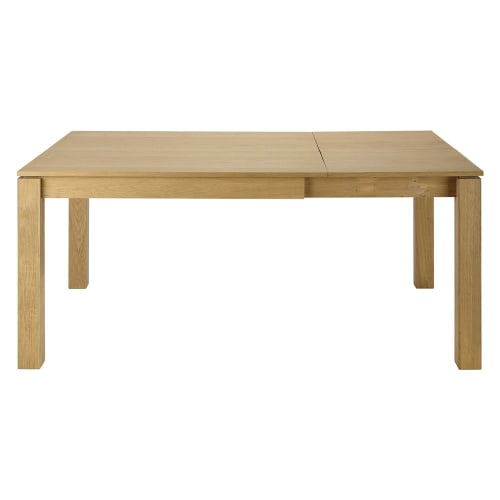 Table A Manger Carree Extensible 4 A 8 Personnes En Chene L120 180