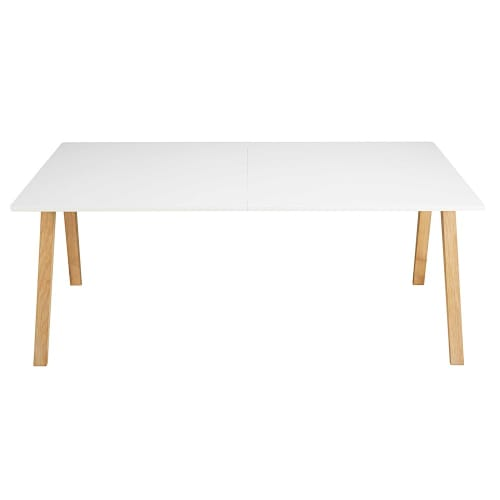Table à manger extensible 8 à 10 personnes blanche L200/245