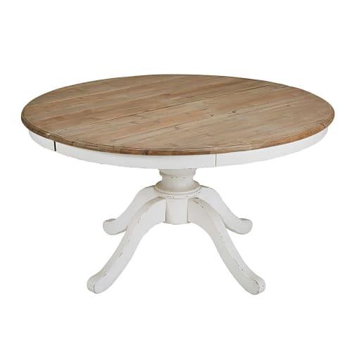 Table à manger ronde extensible 6 à 8 personnes L140/190