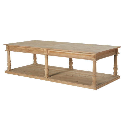 Table Basse 2 Plateaux.Table Basse 2 Plateaux 6 Pieds Sculptee