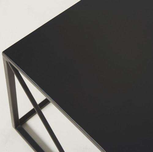 basse carrée Table noir en métal qSzMGUVp