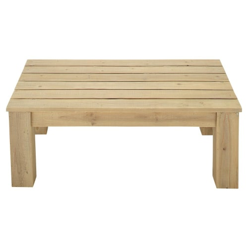 Table basse de jardin en bois L 100 cm