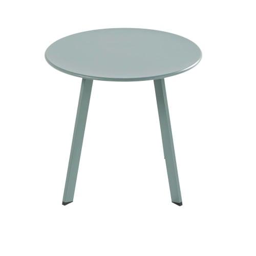 Table basse de jardin ronde en métal vert | Maisons du Monde