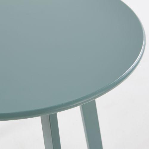 Table basse de jardin ronde en métal vert