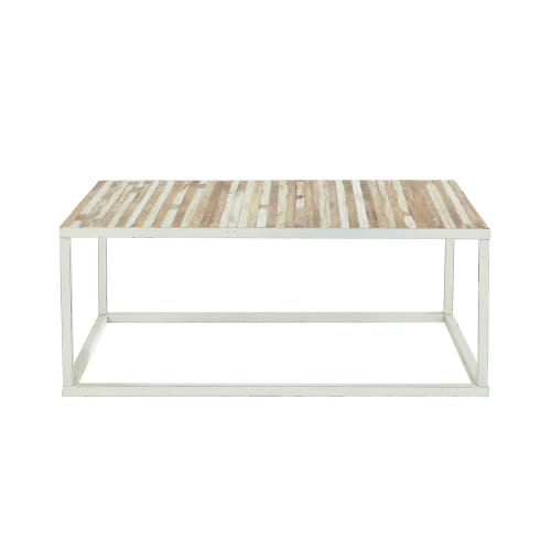 Table Basse Metal Blanc.Table Basse En Metal Blanc Maisons Du Monde