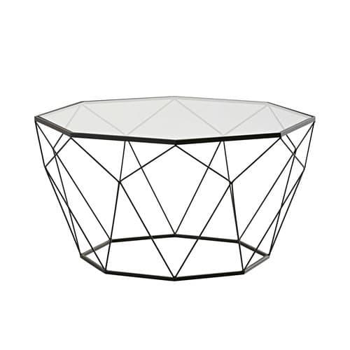 taille 40 8a765 bf0b5 Table basse en verre trempé et métal noir