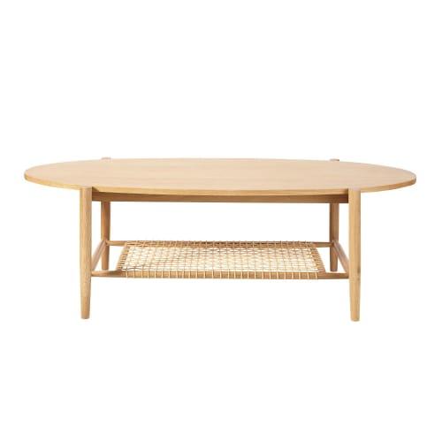 Table basse ovale 2 plateaux en cordes tressées | Maisons du Monde