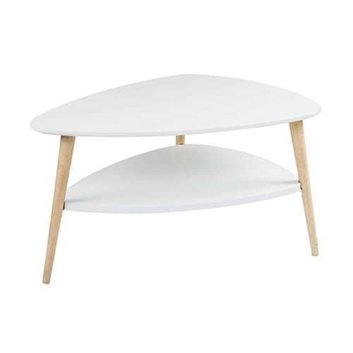 Table basse style scandinave blanche spring maisons du monde - Table basse conforama blanche ...