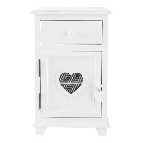 Table de chevet 1 tiroir blanche Valentine | Maisons du Monde