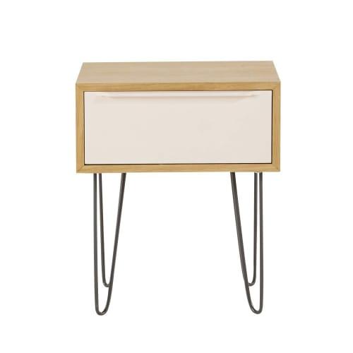Table De Chevet Style Scandinave 1 Tiroir Maisons Du Monde