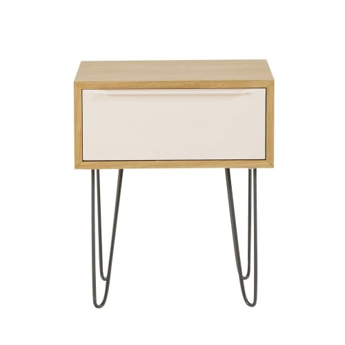 Table De Chevet Style Scandinave 1 Tiroir