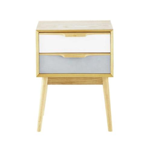 Table de chevet vintage 9 tiroirs  Maisons du Monde