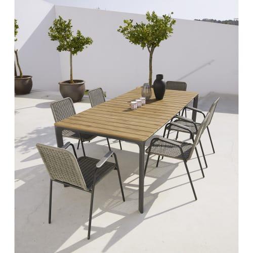 Table de jardin 6/8 personnes en composite et aluminium L200