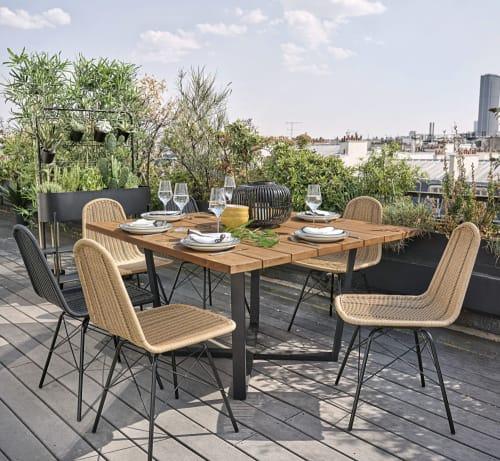 Table De Jardin Carree En Acacia 8 Personnes L130 Lanzarote Maisons Du Monde