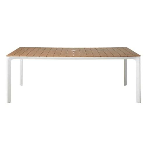 Table de jardin en aluminium blanc 6/8 personnes L200 | Maisons du Monde