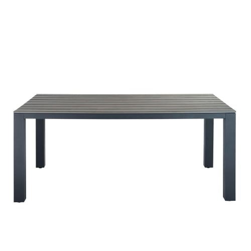 Table de jardin en aluminium gris