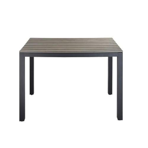 Table de jardin en aluminium gris anthracite L104 | Maisons du Monde