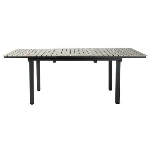 Table de jardin en aluminium gris L 213 cm