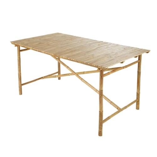 Table de jardin en bambou L 160 cm   Maisons du Monde