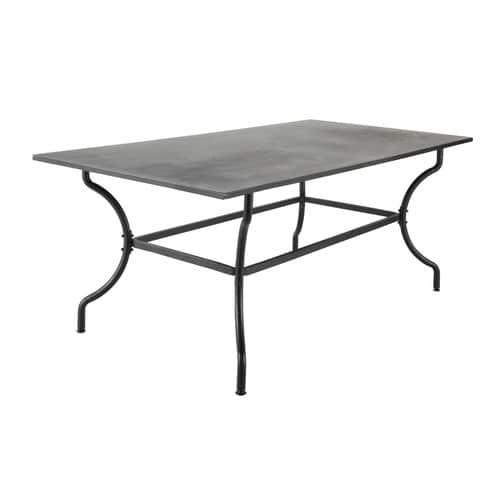 Table de jardin en fer forgé marron 6/8 personnes L200