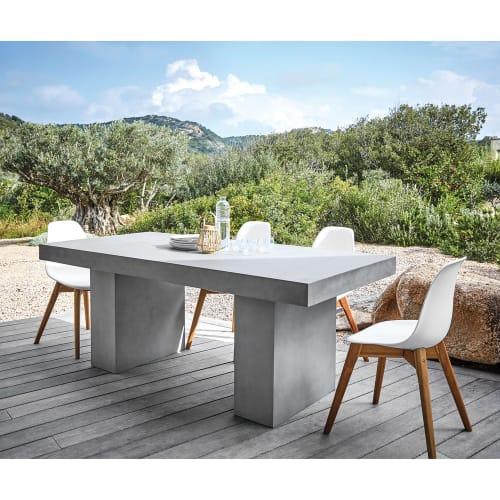 Table De Jardin En Magnesie Effet Beton 8 10 Personnes L200