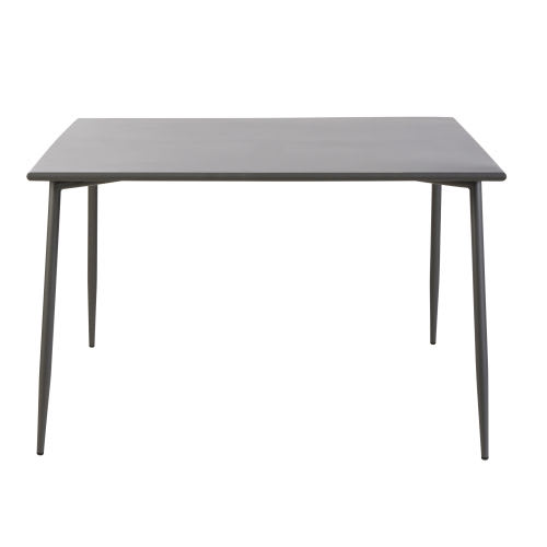 Table de jardin en métal gris anthracite 8 personnes L120