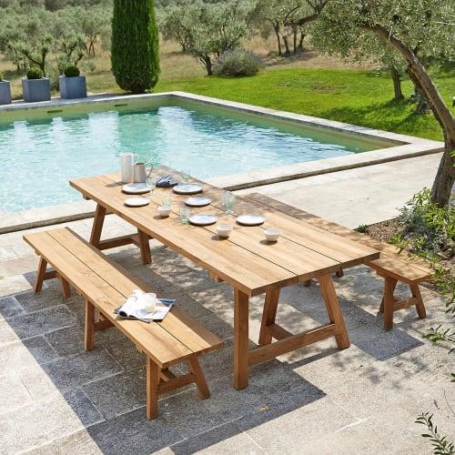 Table De Jardin En Teck Recycle 12 14 Personnes L300 Tecka