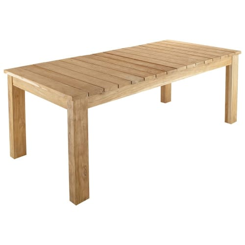 Table de jardin en teck recyclé L 220 cm | Maisons du Monde