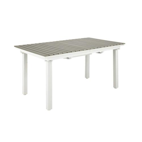 Table de jardin extensible 6/10 personnes en aluminium et composite L157