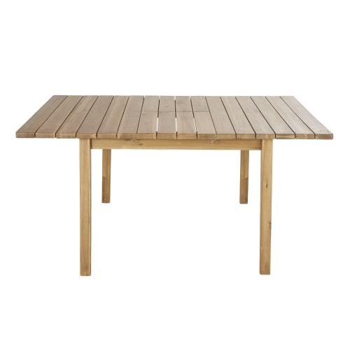Table De Jardin Extensible Carree En Acacia Massif 6 8 Personnes